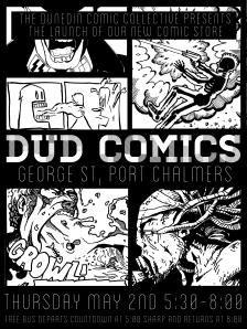 DUD Comics launch poster